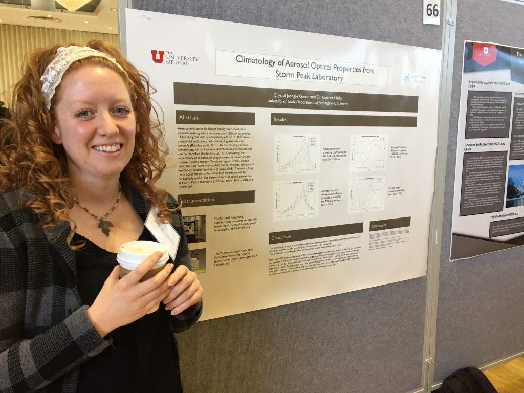 Crystal Presenting at Undergraduate Research Symposium